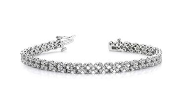 Women's gold bracelets with moissanite