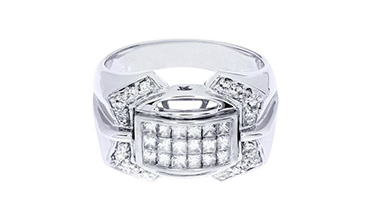 Men's rings with moissanite