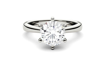 Engagement rings with a moissanite stone, 1 carat