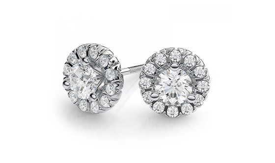 Golden earrings (Pusey) moissanite